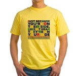 side/side yellow t-shirt