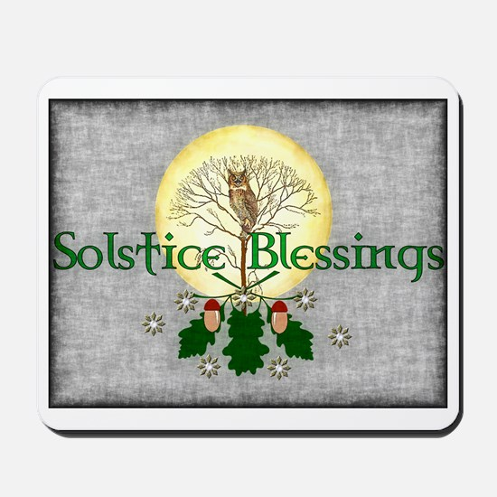 Solstice Blessings Mousepad