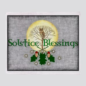 Solstice Blessings Throw Blanket