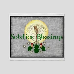 Solstice Blessings Throw Blanket