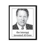 The Internet Invented Al Gore Framed Panel Print