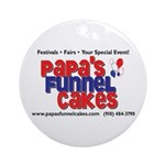 Papa's Funnel Cakes Ornament (Round)