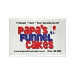 Papa's Funnel Cakes Rectangle Magnet (100 pack)