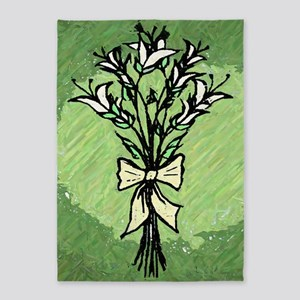Lillies 5'x7'Area Rug