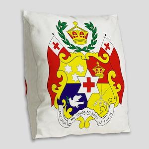 Tonga COA Burlap Throw Pillow