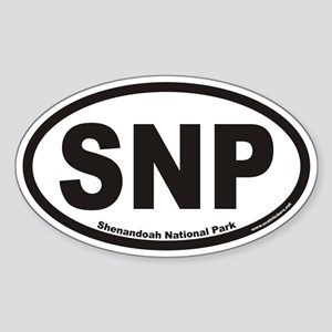 Shenandoah National Park SNP Euro Oval Sticker