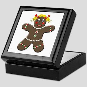 Gingerbread Girl Christmas Keepsake Box