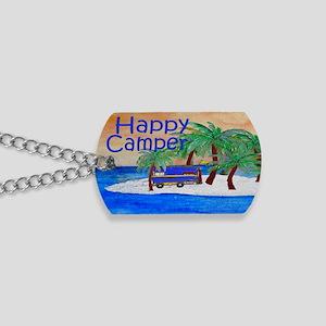 Island Palms Happy Camper Dog Tags