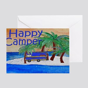 Island Palms Happy Camper Greeting Card