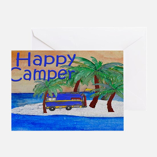 Island Palms Happy Camper Greeting Card