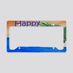 Island Palms Happy Camper License Plate Holder