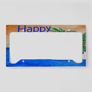 Island Palms Happy Camper License Plate Holder