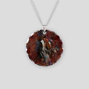 BARRELR-40 Necklace Circle Charm