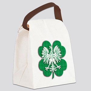 Irish Polish Shamrock Eagle Canvas Lunch Bag