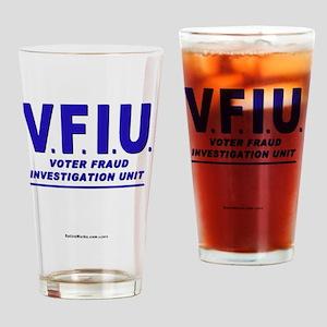 VFIUblueLetter Drinking Glass