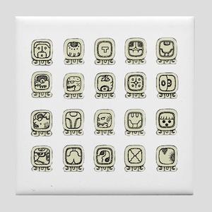 Maya Day Signs Tile Coaster