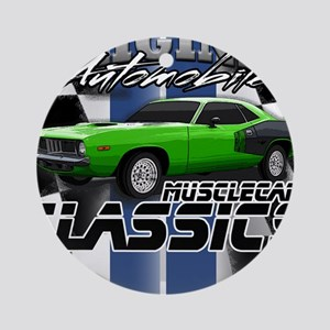 Classic Musclecar Ornament (Round)