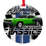 Classic Musclecar Round Ornament