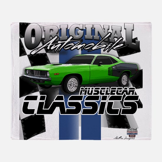 Classic Musclecar Throw Blanket