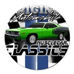 Classic Musclecar Round Car Magnet