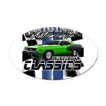 Classic Musclecar Oval Car Magnet