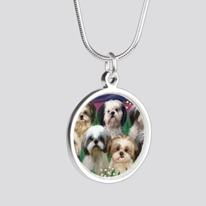 8x10-7 SHIH TZUS-Moonlight G Silver Round Necklace