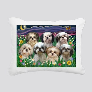 8x10-7 SHIH TZUS-Moonlig Rectangular Canvas Pillow