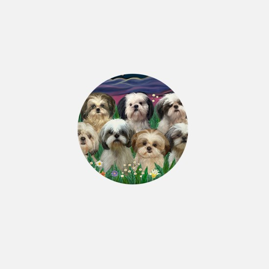 8x10-7 SHIH TZUS-Moonlight Garden Mini Button
