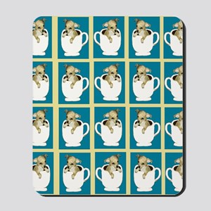 chihuahu in teacup shower curtain Mousepad