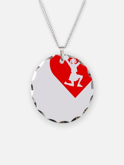 I-Heart-Cheering-darks Necklace
