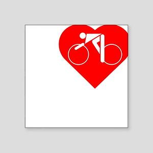 "I-Heart-Cycling-darks Square Sticker 3"" x 3"""