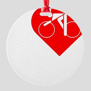 I-Heart-Cycling-darks Round Ornament