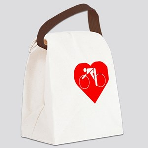 I-Heart-Cycling-darks Canvas Lunch Bag