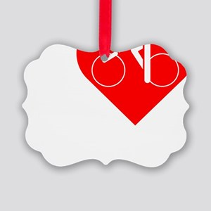 I-Heart-Cycling-darks Picture Ornament