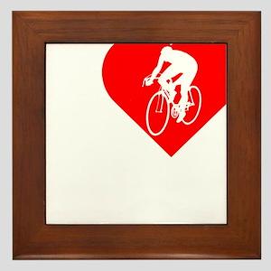 I-Heart-Cycling2-darks Framed Tile