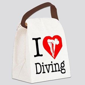 I-Heart-Diving Canvas Lunch Bag