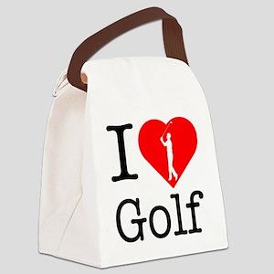 I-Heart-Golf-2 Canvas Lunch Bag
