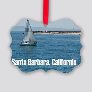 Santa Barbara Picture Ornament