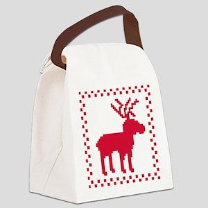 norwegian_pattern_1 Canvas Lunch Bag