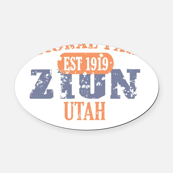 Zion 3 Oval Car Magnet