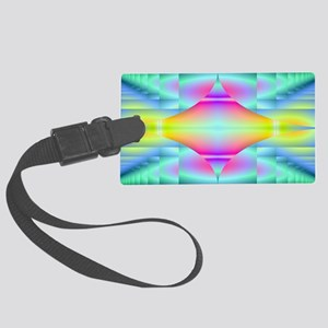 fractal-diamond-bag Large Luggage Tag