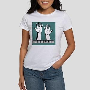 hands-work-TIL Women's T-Shirt