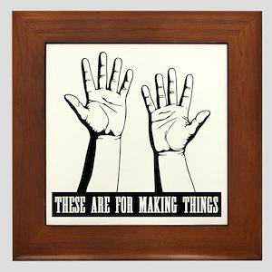 hands-work-T Framed Tile