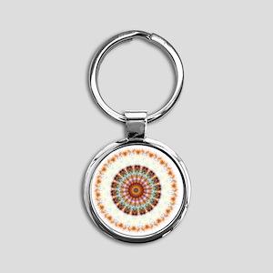 mandala011202 Round Keychain