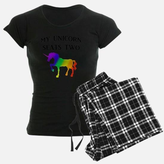 MY UNICORN SEATS TWO BLACK Pajamas