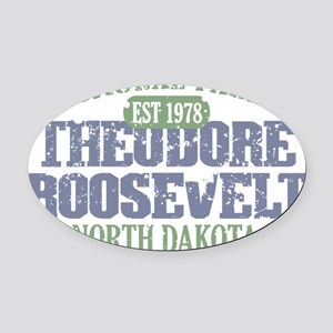 Theodore Roosevelt 3 Oval Car Magnet