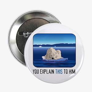 """Arctic Polar Bear 2.25"""" Button"""