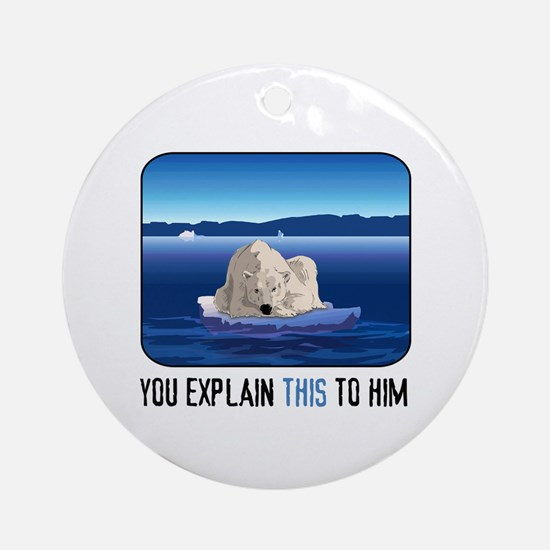 Arctic Polar Bear Ornament (Round)