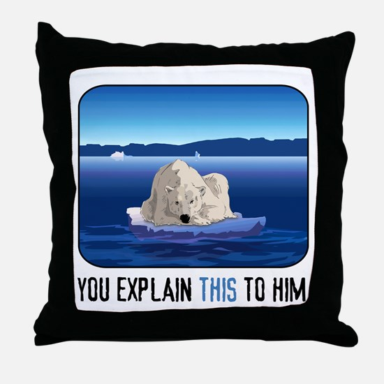Arctic Polar Bear Throw Pillow