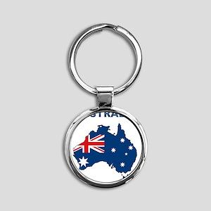 australia26 Round Keychain